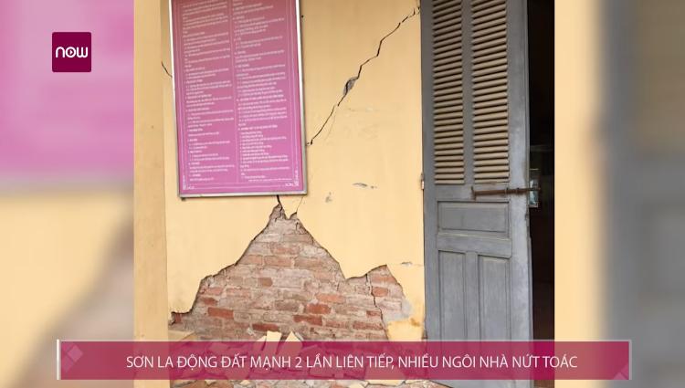 Sơn La động đất 2 lần liên tiếp, nhiều ngôi nhà nứt toác
