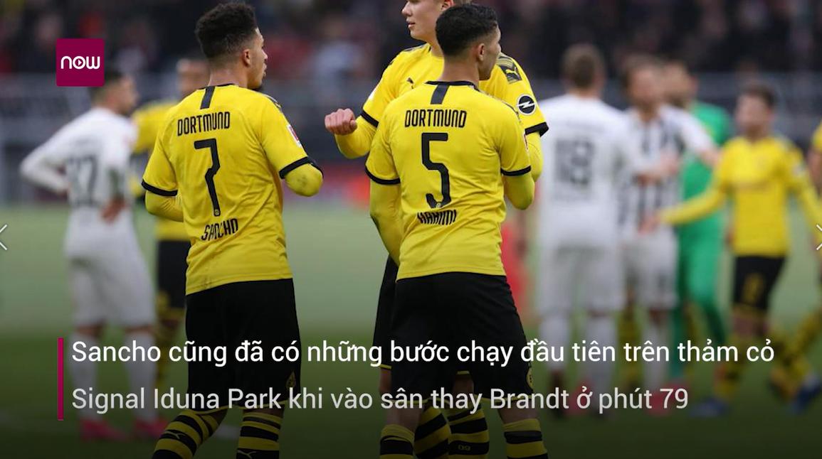 Haaland tỏa sáng, Dortmund trở lại Bundesliga đầy ấn tượng