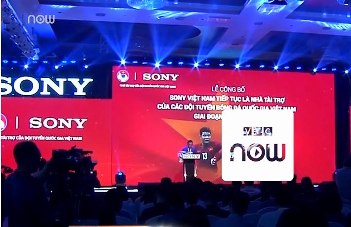 Sony tiếp tục là nhà tài trợ chính các đội tuyển Việt Nam